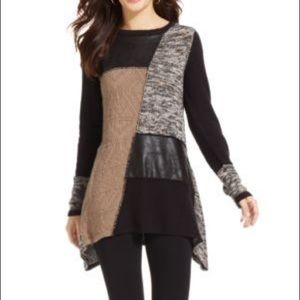 Style & Co. Asymmetrical Patchwork Sweater